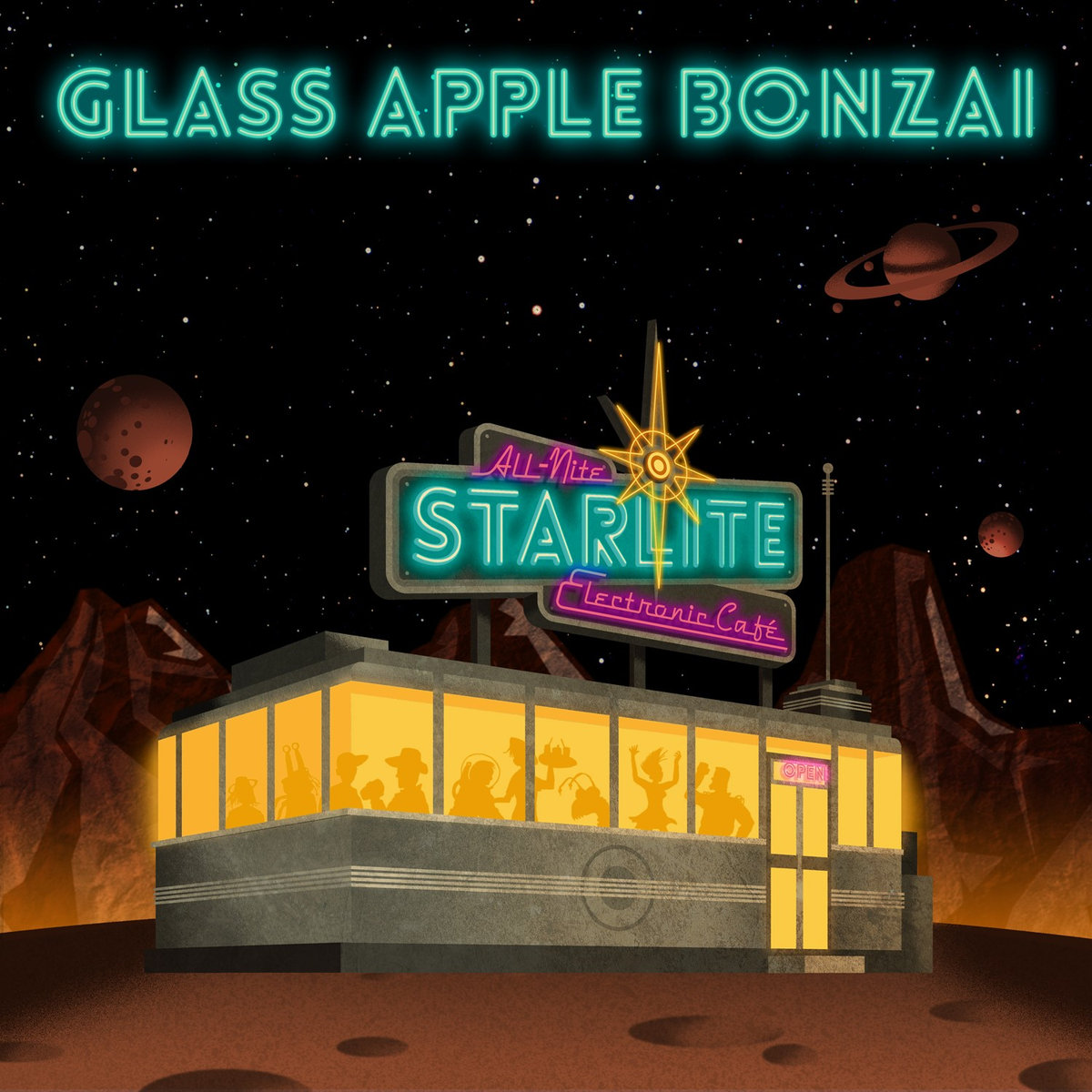"Glass Apple Bonzai, ""The All-Nite Starlite Electronic Café"""