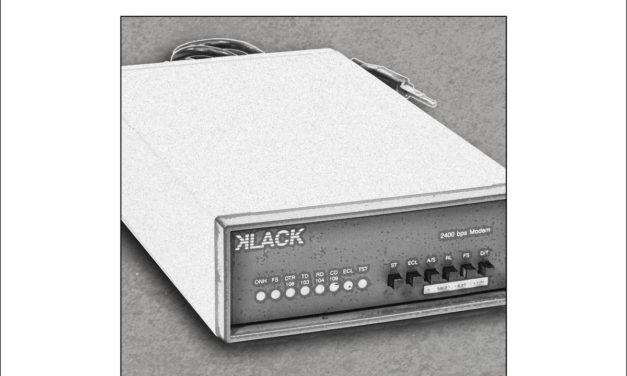 """Klack, """"2400bps 8-N-1"""""""