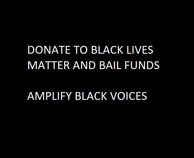 DONATE TO BLACK LIVES MATTER, DONATE TO BAIL FUNDS